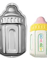 cuatro c molde molde forma de la botella de bebé de aluminio para hornear, herramientas de panadero para tortas, utensilios para hornear