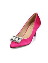 Women's Shoes Silk Kitten Heel Pointed Toe/Closed Toe Pumps/Heels