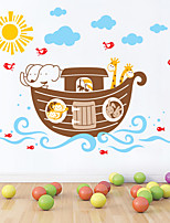 Wall Stickers Wall Decals Style Cartoon Boat PVC Wall Stickers