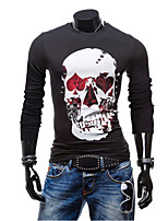 Men's Long Sleeve T-Shirt , Cotton Casual/Plus Sizes Print