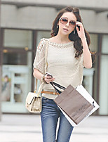 Women's Casual  ½ Length Batwing Sleeve Loose Off-The-Shoulder Sweater