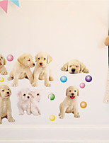Wall Stickers Wall Decals Style Dog Park PVC Wall Stickers