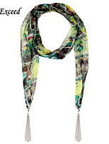 D Exceed Retro Pop Women's Multipurpose Complex Color Chiffon Jewelry Scarves