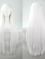 New Anime Cosplay White Long Straight Hair Wig 80CM