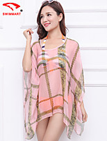 Women's Geometric Halter Cover-Ups (Polyester)SM7A05