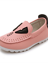 Girls' Shoes Casual Comfort Faux Leather Loafers Black/Yellow/Pink/White