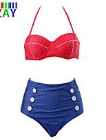 ZAY Women's Sexy High Waist Halter Push Up Bikinis Set