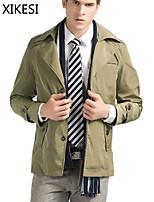 Men's Casual/Work Pure Long Sleeve Regular Jacket (Cotton Blend) XKS7C16
