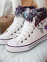 Scarpe Donna - Sneakers alla moda - Tempo libero / Casual - Comoda - Piatto - Di corda - Nero / Bianco / Grigio