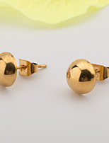 A Woman's Daily Stainless Steel Gold Earrings