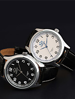 Aidu  New Man's High Quality Leather Belt Japanese Quartz  Waterproof Watch