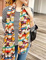 Women Women Cute Candy Color Chiffon Scarf