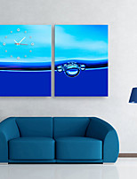 E-HOME® Blue Water Clock in Canvas 2pcs
