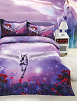 Purple/Red Polyester/Poly/Cotton King Duvet Cover Sets