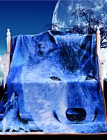 Couverture - 120cmx150cm - en 100% Polyester - Bleu