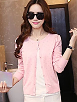 Women's Pink/White/Purple Cardigan Long Sleeve