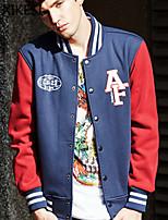 Men's Casual/Sport Long Sleeve Regular Jacket (Cotton Blend) XKS7F06