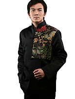 Magic Golden Dragon Silk Brocade Jacket