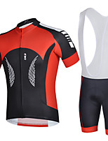 Men's Cycling Jersey & Bib Shorts Quick Dry Bike Short Sleeve Clothing Set Bicycle Suit