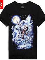 Katoenmix - Print - Heren - T-shirt - Informeel/Sport - Korte mouw