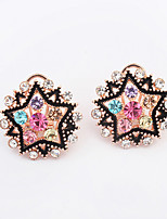 European Style Fashion Boutique Star Rhinestone Earrings
