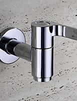 HPB Contemporary Chrome Finish Brass Bibcock Single Cold Wall Mop Pool Washing Machine Taps