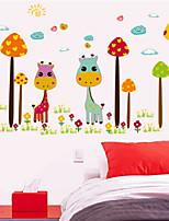 Color Giraffe Nursery Wall Stickers Children's Room Decorative Wall Stickers