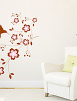 Wall Stickers Wall Decals Style Birds And Flowers PVC Wall Stickers