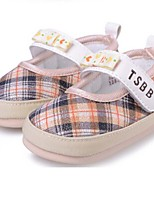 Baby Shoes Casual Fabric Flats Pink/Tan