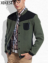 Men's Casual/Work Long Sleeve Regular Jacket (Cotton Blend) XKS7F08