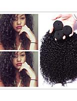 3pcs/lot Brazilian Virgin Hair Kinky Curly Deep Curl #1b 8