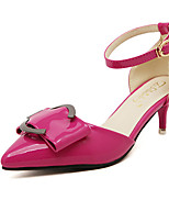 Women's Shoes Kitten Heel Pointed Toe Pumps/Heels Casual Pink/Red/White