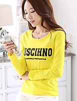 Women's Vintage Casual Stretchy Long Sleeve Regular T Shirt (Cotton)