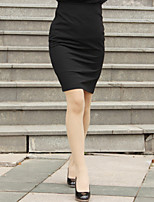 Women's Bodycon/Work Knee-length Skirts , Twill Inelastic Opaque