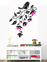 Wall Stickers Wall Decals Style A Bird on Flower Top PVC Wall Stickers