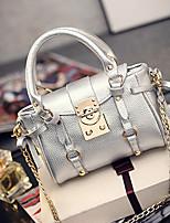 Women 's PU Baguette Shoulder Bag/Tote - White/Silver/Black
