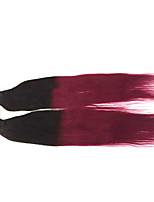 4pcs 8-24inch Brazilian Virgin Hair #1B/Red Straight Hair