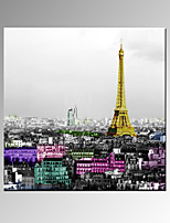 VISUAL STAR®Colorful Paris City Canvas Painting Art Fashion Wall Decoration Picture For Home