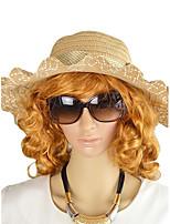 Fashion Women Beach Style Ribbon Multi-colors Straw Hat
