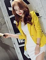 Women's Casual/Work Medium Long Sleeve Regular Blazer (Others)