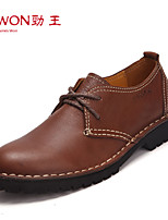 Men's Shoes Office & Career/Casual/Party & Evening Leather Oxfords Black/Brown/Khaki