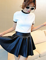 PU leather pleated skirt render skirts leather skirt