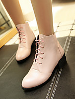 Women's Shoes Kitten Heel Combat Boots/Round Toe Boots Office & Career/Casual Black/Pink/White