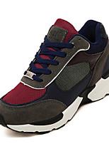 Zapatos de mujer Purpurina Tacón Plano Comfort Sneakers a la Moda Exterior Blanco/Oro/Bermellón