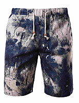 Men's Chinos , Casual Print Cotton/Polyester