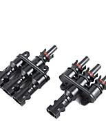 y-solaire 5 paires mc4 de panneau solaire 3 à 1 t connecteurs de dérivation une femelle de trois hommes
