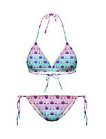 Women's Padless Bra Floral Bikinis (Nylon)