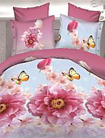 Pink Polyester King Duvet Cover Sets