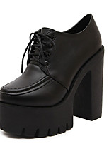 Women's Shoes Chunky Heel Platform Boots Casual Black