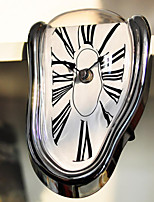 Cool Novelty Timepiece Art Warp Chrome Melting Quartz Irregular Cute Clock